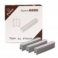 Скоба AL (для станков Minigraf) D-J01 15мм дерево-пластик (6000 шт) /уп 10/Power