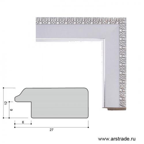 Багет пластиковый 27х12 2808C-012A2 /уп 203м/