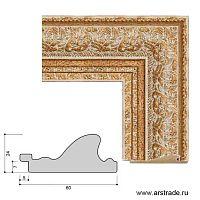 Багет пластиковый 60х24 10019-6 (VI28-0305-2).G/уп 69,6м/
