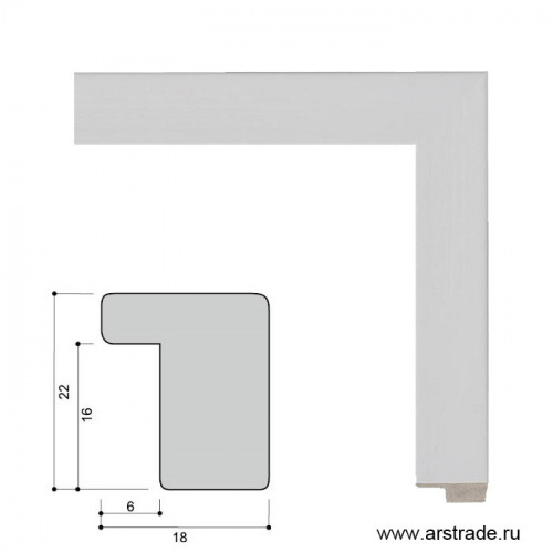 Багет пластиковый 22х18 ZR208B-19 /уп 188,5м/