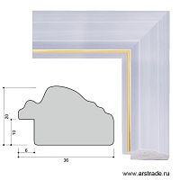 Багет пластиковый 32х20 10058-1 (320-1105-1) /уп 121,8м/