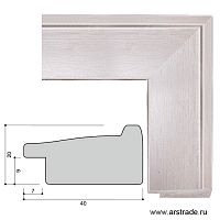 Багет пластиковый 40х20 4100B-147A /уп 104,4м/