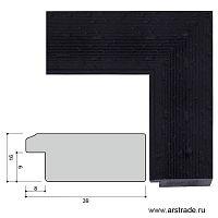 Багет пластиковый 39х16 10046-2 (ML205-014) /уп 118,9м/