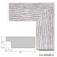 Багет пластиковый 43х14 10047-1 (42V-189-11) /уп 116 м/  А