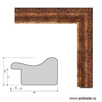 Багет пластиковый 21х13 JR912-2013 /уп 435 м/