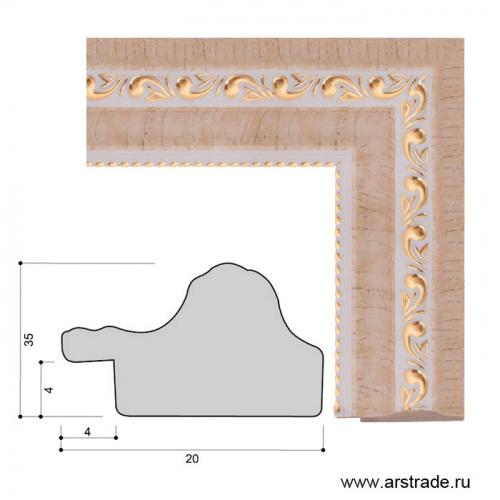 Багет пластиковый 35х20 YH6040-02 /уп 156,6м/