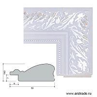 Багет пластиковый 50х19,5 10072-3 (R301D-015-3S) /уп 87м/