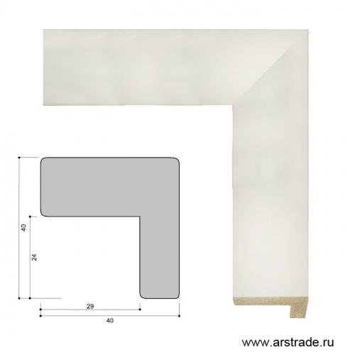 Багет пластиковый 40х40 ZR8471-19 /уп 104,4 м/  А