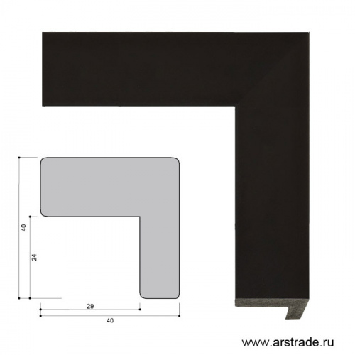 Багет пластиковый 40х40 ZR8471-22 /уп 104,4 м/   А