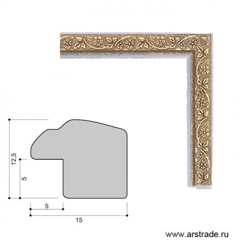 Багет пластиковый 15х12.5 10096-1 (R391A-X601) /уп 443,7м/