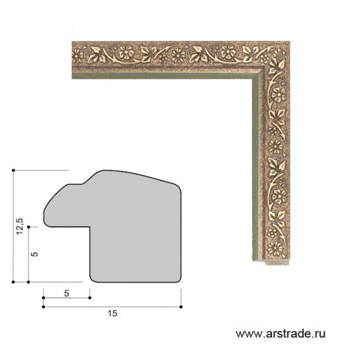 Багет пластиковый 15х12.5 10096-2 (R391A-0266-1) /уп 443,7м/