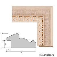 Багет пластиковый 39х19 10100-1 (R402A-C-5-1119PM) /уп 139,2м/
