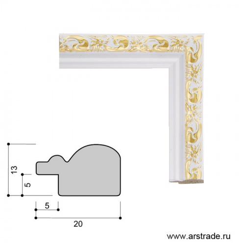 Багет пластиковый 20х13 2025C-012AL1 /уп 307,4м/