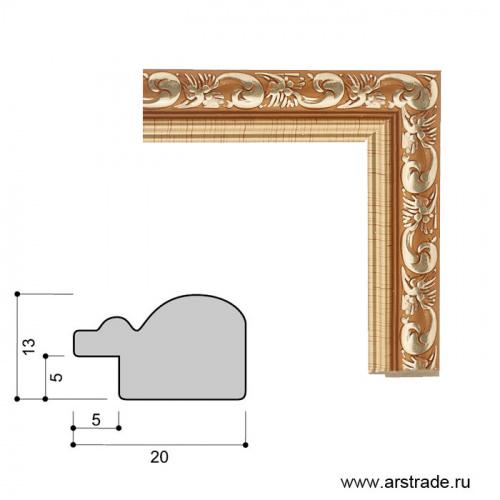 Багет пластиковый 20х13 2025C-101C1/уп 307,4м/