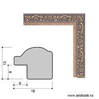 Багет пластиковый 16х13 10108-3 (R391A-138) /уп 443,7м/