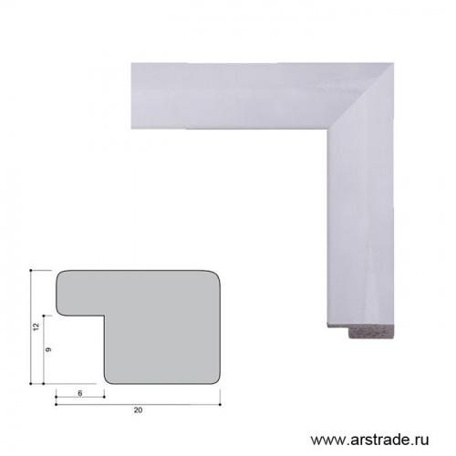 Багет пластиковый 20х12 2004A-012AL /уп 324,8м/