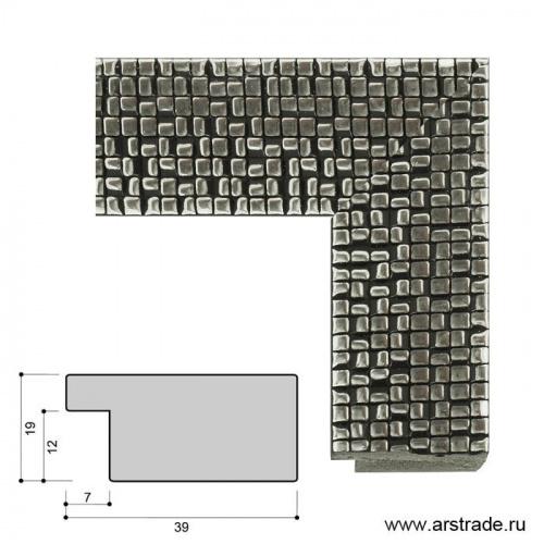 Багет пластиковый 39х19 4038С-012С2 /уп 98,6м/