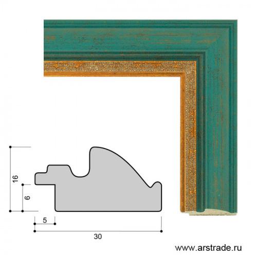 Багет пластиковый 30х16 ZR5612B-H71A35 /уп 162,4м/