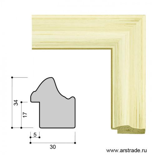 Багет пластиковый 30х34 ZR5240B-H39H23 /уп 101,5м/