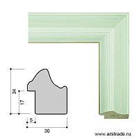 Багет пластиковый 30х34 ZR5240B-H39H36 /уп 101,5м/