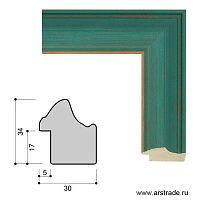 Багет пластиковый 30х34 ZR5240B-H71A35 /уп 101,5м/