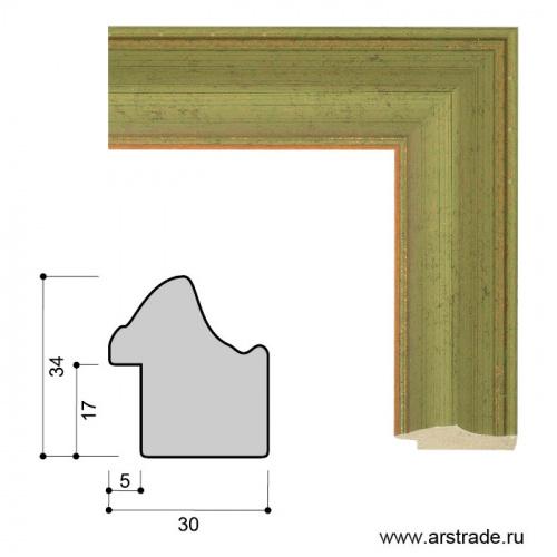Багет пластиковый 30х34 ZR5240B-H71A36 /уп 101,5м/