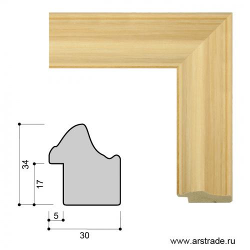 Багет пластиковый 30х34 ZR5240B-H84A61 /уп 101,5м/