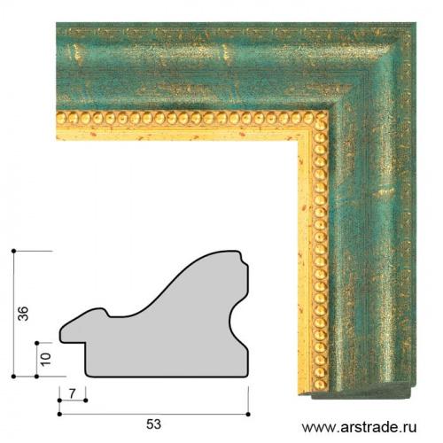 Багет пластиковый 53х36 IN3014-B-0547 /уп 49,3м/