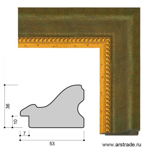 Багет пластиковый 53х36 IN3014-B-0548 /уп 49,3м/