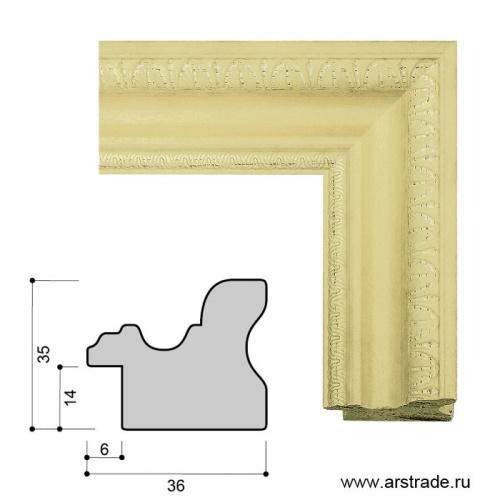 Багет пластиковый 36х35 IN3716-A-814 /уп 87м/