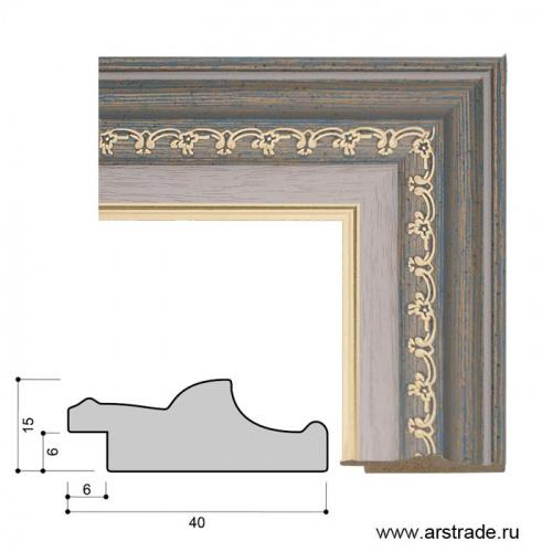 Багет пластиковый 40х15 10102-3 (R440A-L03-103) /уп 156,6м/
