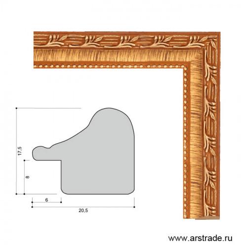 Багет пластиковый 20,5х17,5 2012C-056A1 /уп 278,4м/