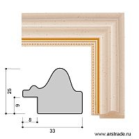 Багет пластиковый 33х25 CH603-1 /уп 130,5м/