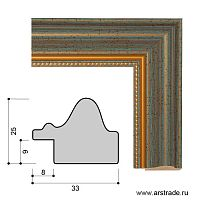 Багет пластиковый 33х25 CH603-3 /уп 130,5м/