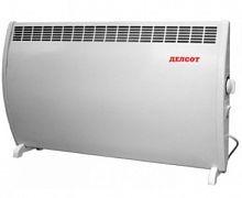 Конвектор ДЕЛСОТ ЭВуБ 2,0 белый, 2000 Вт, механическое управление, терморегулятор, напольный/настенный