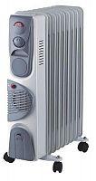 Обогреватель масляный OASIS BB-25T серый, 2500 Вт, 11 секций, механическое управление, терморегулятор, тепловентилятор