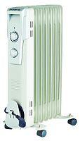 Обогреватель масляный POLARIS PRE G 0615 белый, 1500 Вт, 6 секций, механическое управление, терморегулятор