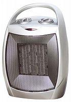 Тепловентилятор керамический OASIS KS-15R серебристый, 1500 Вт, напольный, терморегулятор, механическое управление, холодный обдув