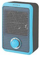Тепловентилятор спиральный SUPRA TVS-F08 голубой, 800 Вт, настенный, терморегулятор, механическое управление