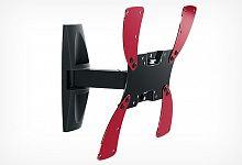 Кронштейн HOLDER LCDS-5019 черный глянец, 19''-40'', VESA 300x300, наклон 20°, поворот 50°, max 30 кг, min: 105 мм, max: 105 мм