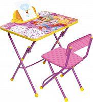 Комплект детской мебели НИКА Winx В3А Азбука, стол 58 см, пенал, стул мягкий,подставка для ног