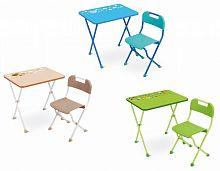 Комплект детской мебели НИКА КА2/С салатовый, стол 58 см, стул пластик, каркас салатовый
