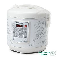 Мультиварка POLARIS PMC-0541D белый, 700 Вт, 5 л, программ: 40, йогуртница