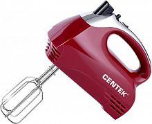 Миксер погружной CENTEK CT-1118 вишневый, 350 Вт, скоростей: 5, насадок: 2, турборежим