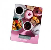 Весы кухонные CENTEK CT-2459 рисунок ''sweet'', электронные, 5 кг, 1 гр, стекло, платформа