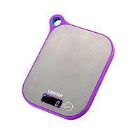 Весы кухонные CENTEK CT-2461 серебристый, электронные, 5 кг, 1 гр, пластик, платформа