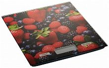 Весы кухонные DELTA KCE-27 цветной ''ягоды'', настольные, 5 кг, 1 гр, стекло, платформа