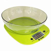 Весы кухонные DELTA KCE-32 зеленый, электронные, 5 кг, 1 гр, пластик, чаша