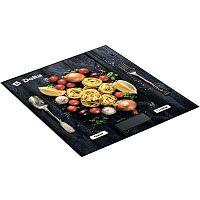 Весы кухонные DELTA KCE-35 цветной ''спагетти'', настольные, 5 кг, 1 гр, стекло, платформа