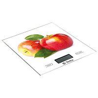 Весы кухонные DELTA KCE-39 цветной ''яблочки'', настольные, 5 кг, 1 гр, стекло, платформа